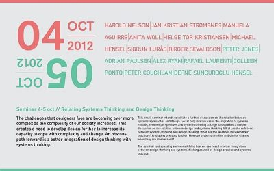 Inaugural Relating Systems and Design Symposium