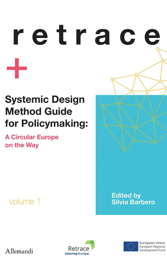 Book cover for systemic design method guide with a red cross and constellation illustration