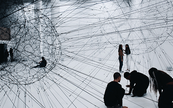 People creating a network